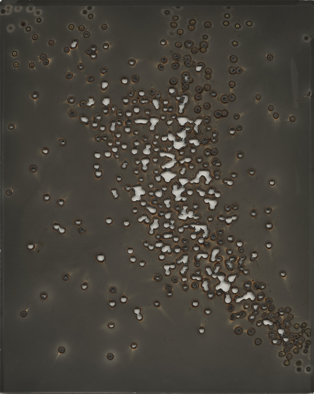 "Heliograph #19, 2013 8""x10"" unique gelatin silver paper negative. Private collection"