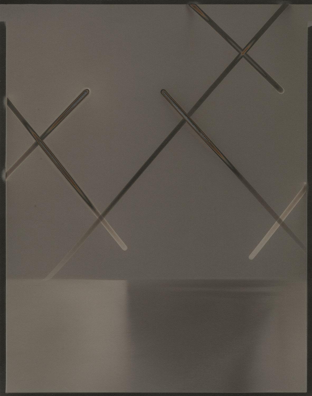 """Heliograph #45, 2014. 11""""x14"""" unique gelatin silver paper negative. Courtesy of Yossi Milo Gallery, New York"""