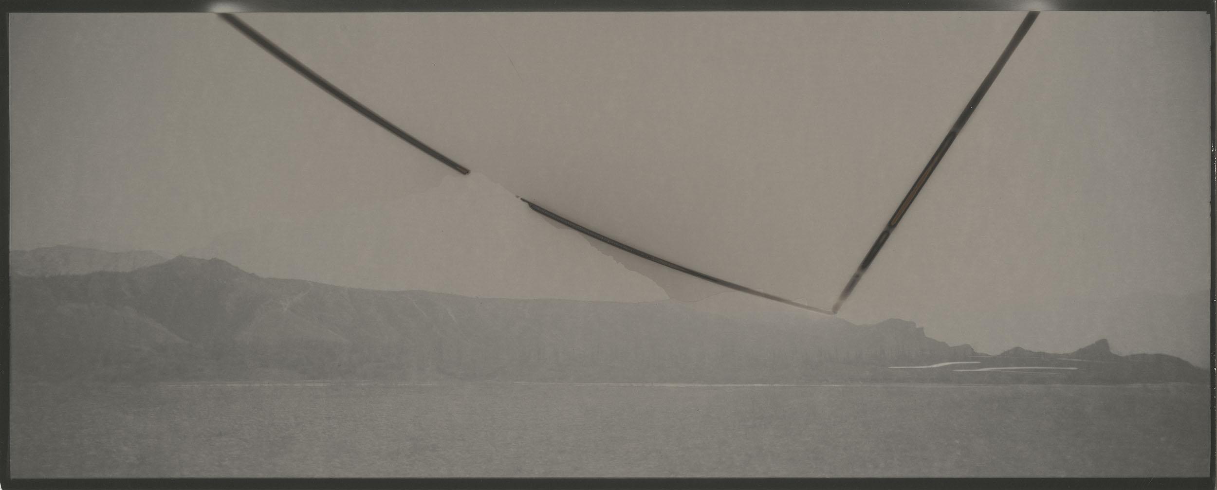 """Heliograph #53, 2014. 8""""x20"""" unique gelatin silver paper negative. Courtesy of Yossi Milo Gallery, New York"""