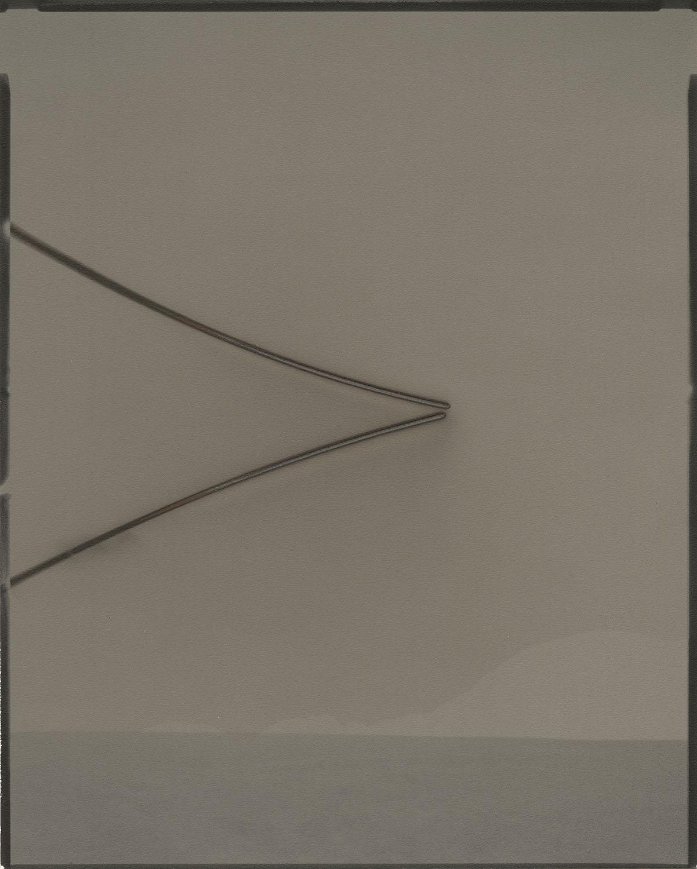 "Heliograph #108(north slope/ mojave), 2016. 8""x10"" unique gelatin silver paper negative. Courtesy of Yossi Milo Gallery, New York"