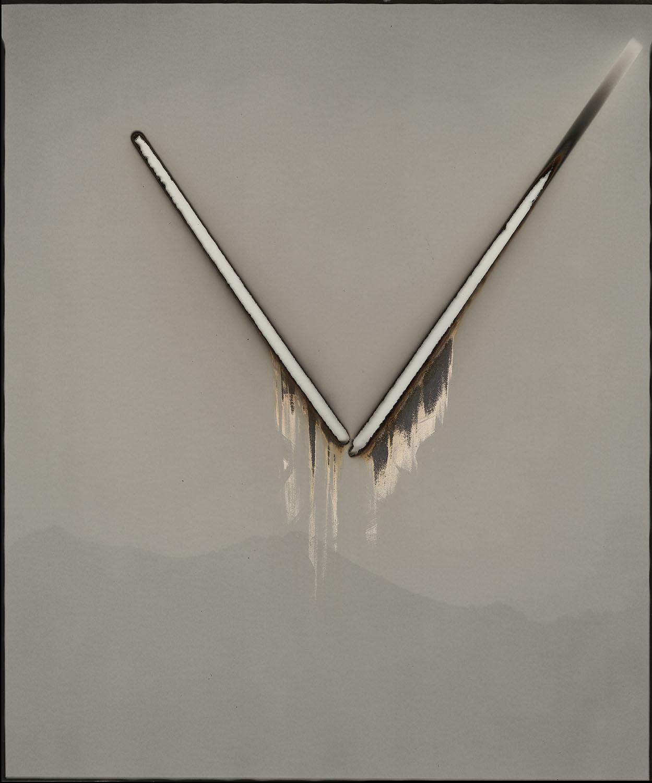 "Heliograph #113, 2016. 20x24"" unique gelatin silver paper negative. Private collection"