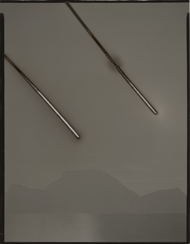 "Heliograph #26(Atlantic Ocean/ Mojave), 2013. 11""x14"" unique gelatin silver paper negative. Private collection"