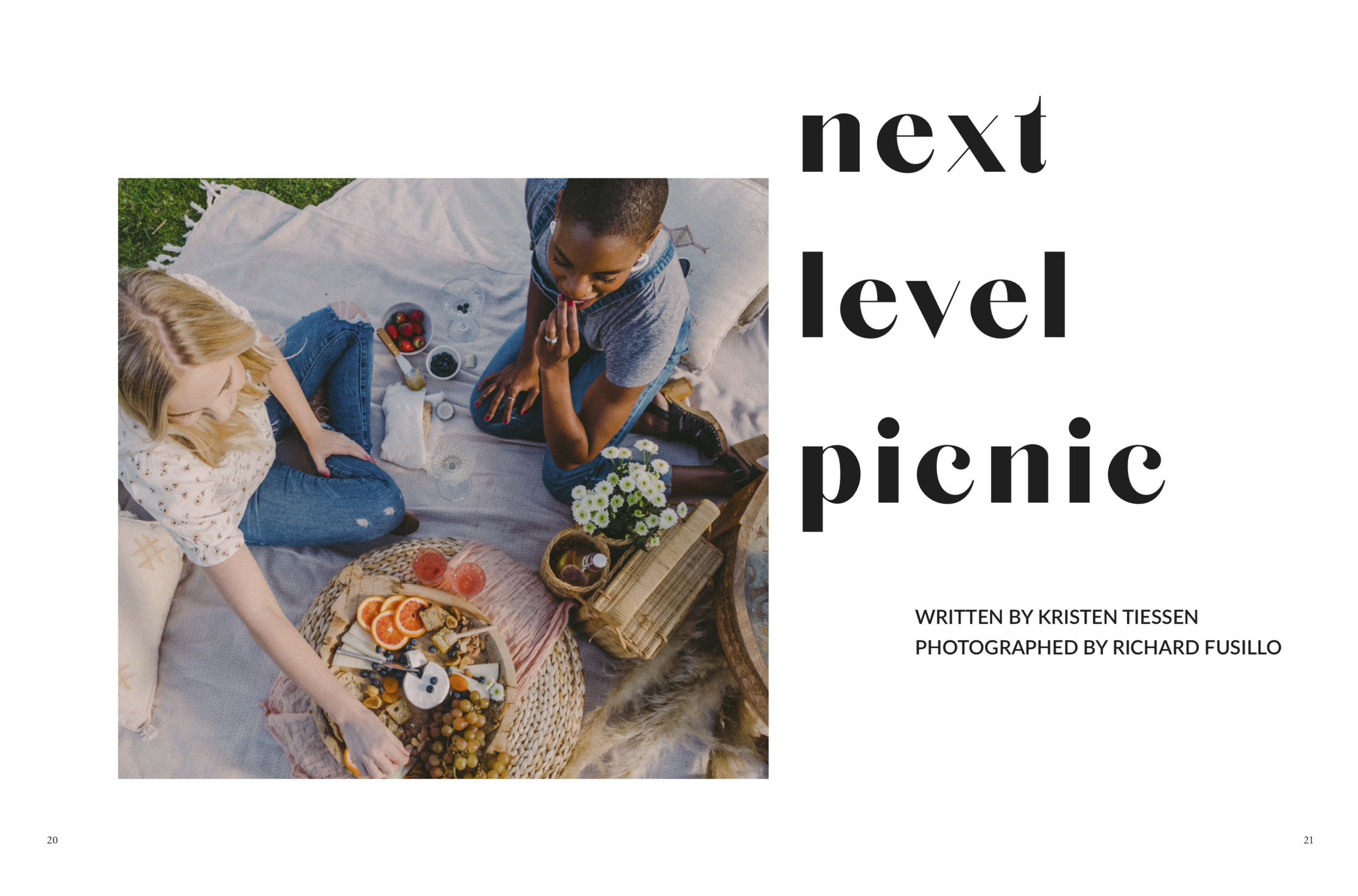 """Next Level Picnic"" - With Santa Barbara Picnic Co., Nicole Leza has turned her love of picnics and her interest in event planning and styling into a career. She launched the biz in August 2018, and today she offers private parties of 2 to 35 guests an experience unlike anything they ever thought a picnic could be. Birthdays, anniversaries, and engagement parties alike, Nicole has totally reimagined your standard field day."