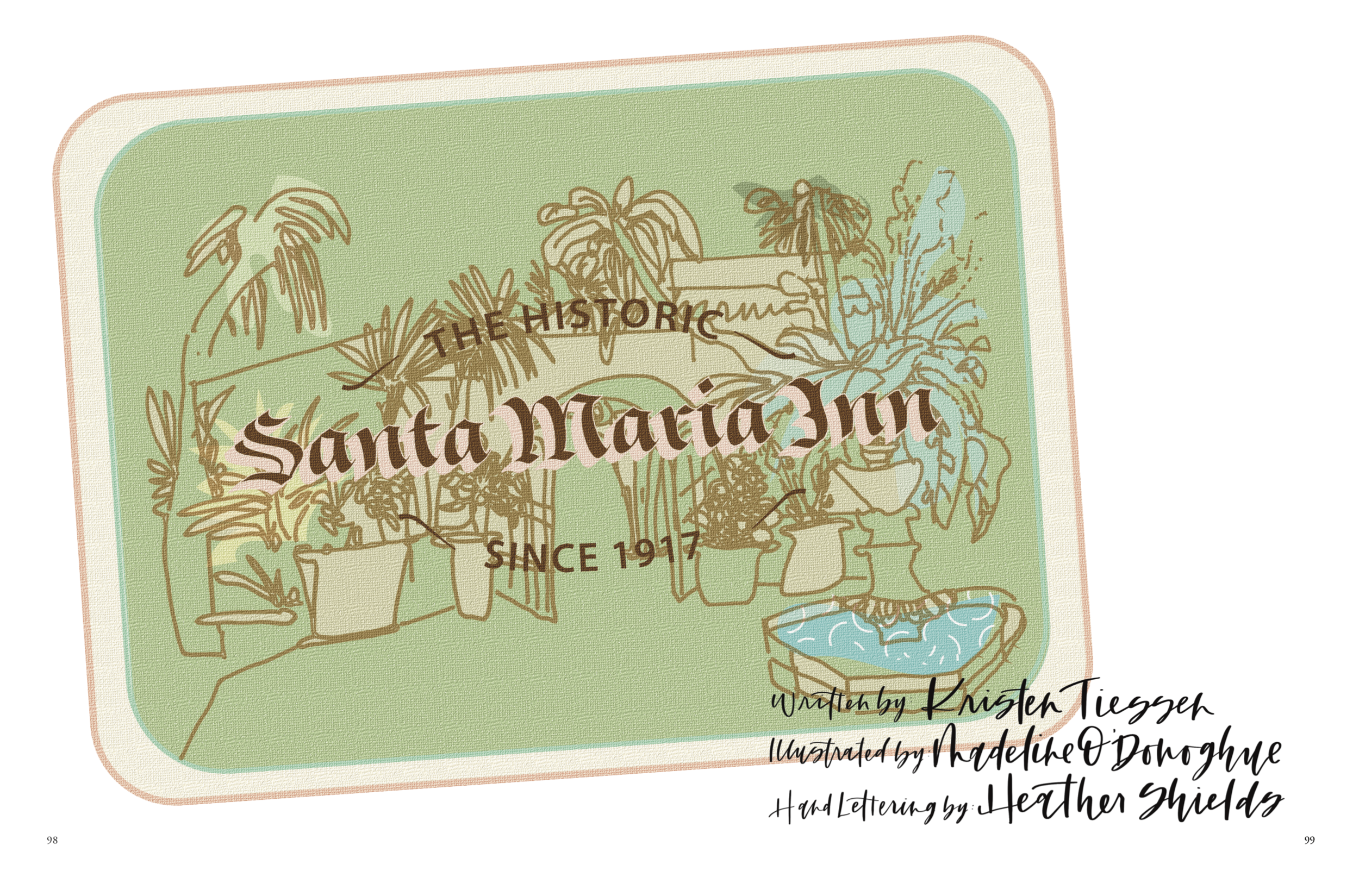 """""""The Historic Santa Maria Inn"""" - The landmark Santa Maria Inn stretches and entire city block in all its architectural splendor. Constructed in 1916 and owned by retired Union Sugar feeding and house manager Frank McCoy, this historic hotel has become an attraction for everyone from average Joes to worldwide celebrities."""