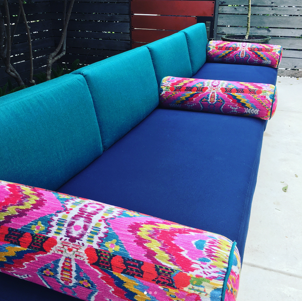 reupholstered outdoor furniture by CB2