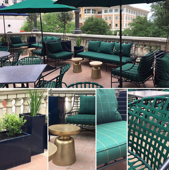 stylish re-do of a previously bland bar patio at Georges Keep
