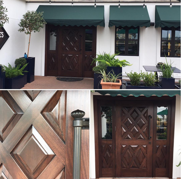Custom door design and fabrication for Georges Keep