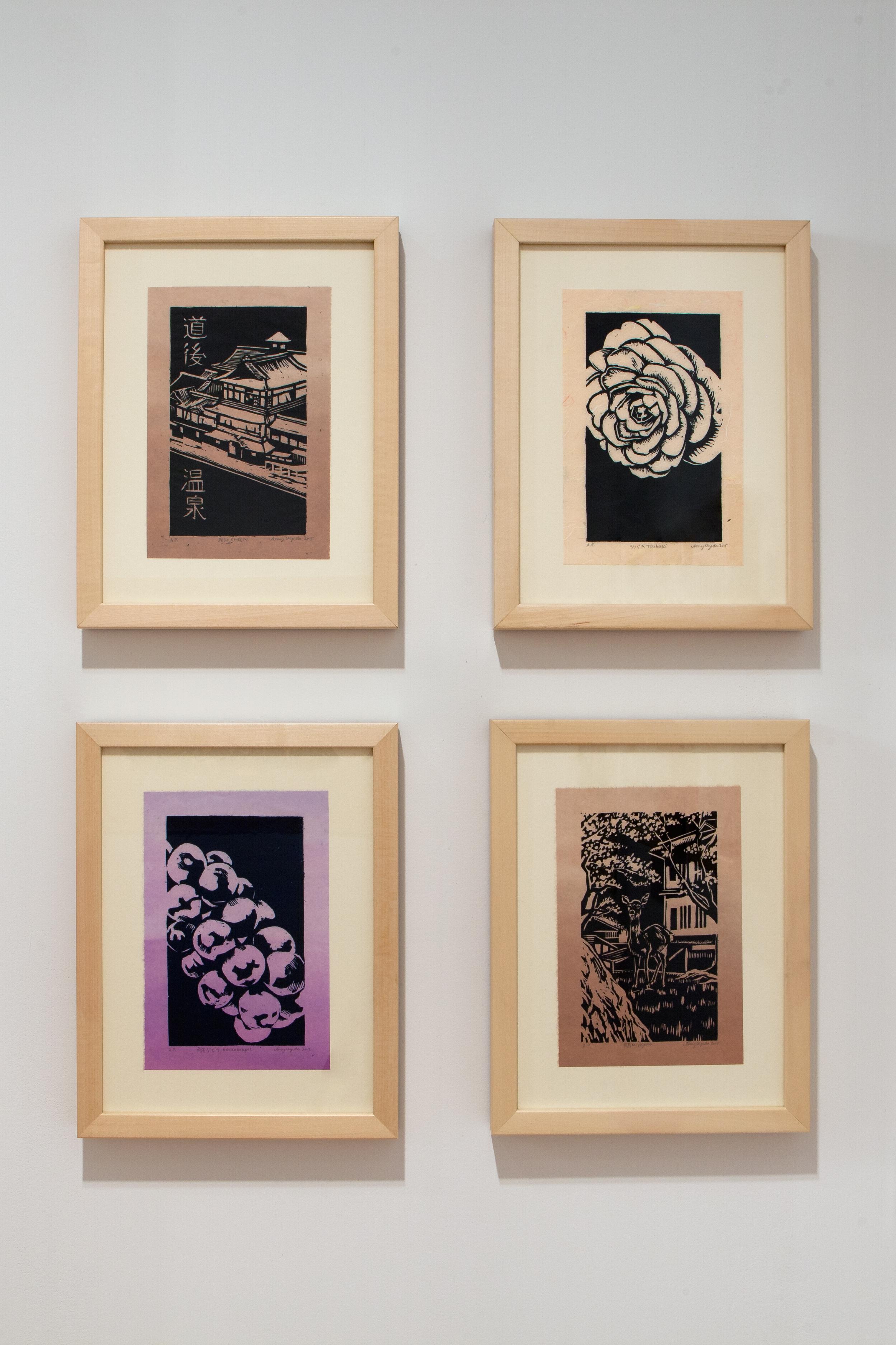 Woodcut prints- assorted, 2015