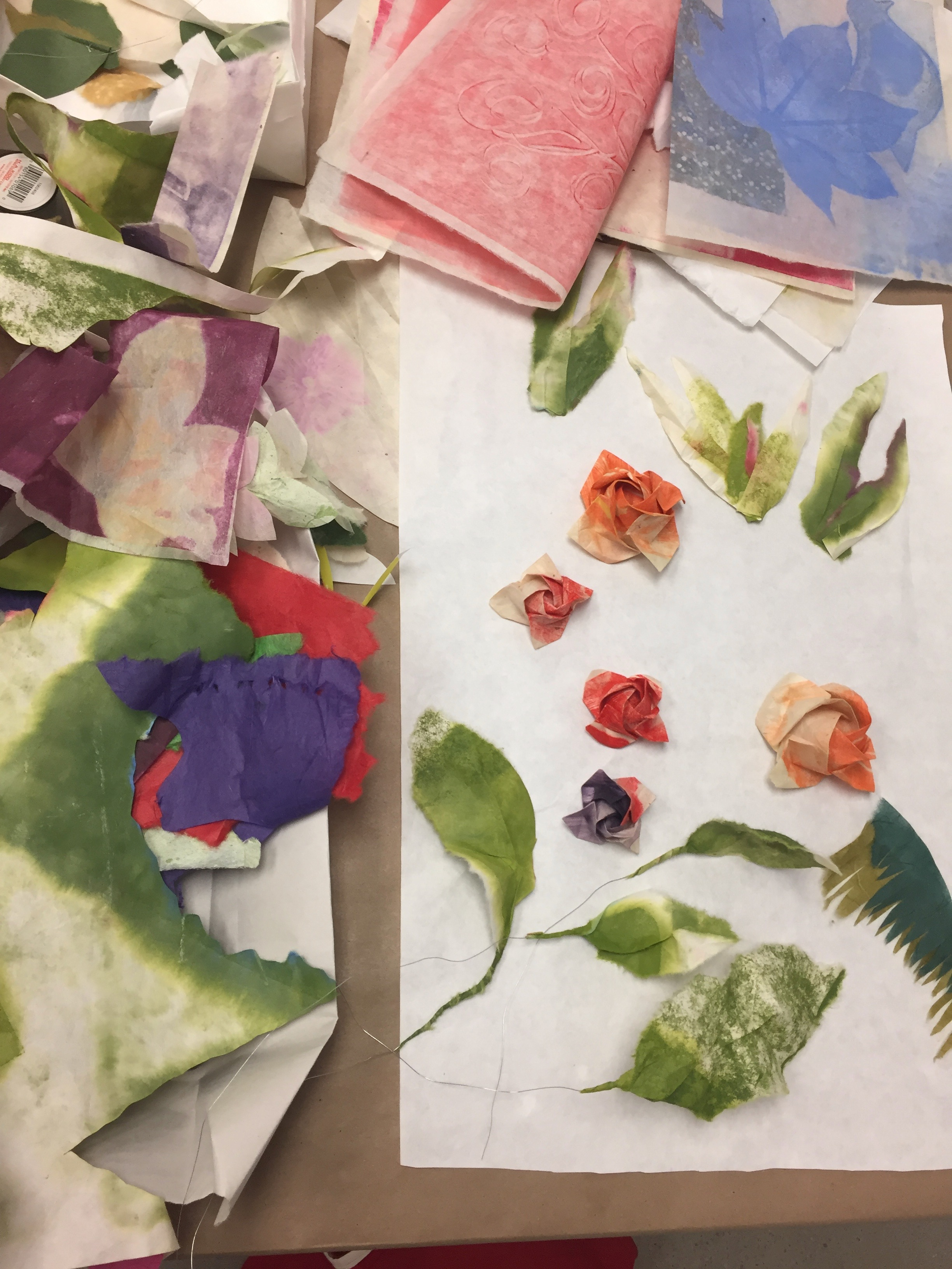playing with different forms using various printed papers