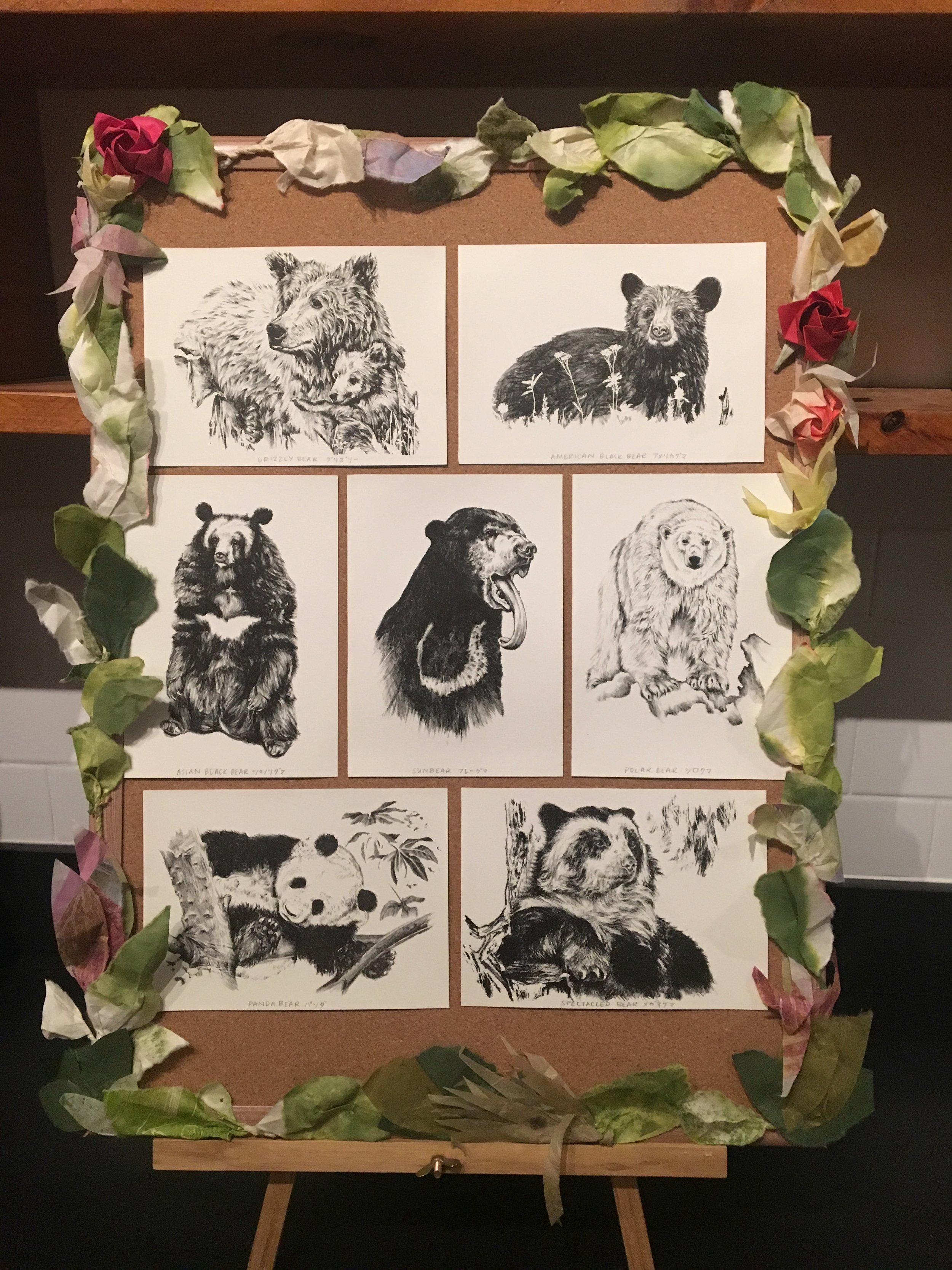 The complete series of bear prints!