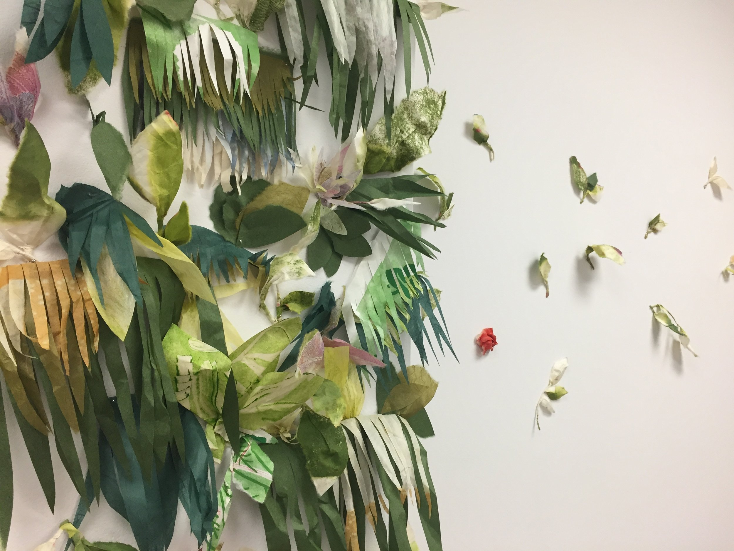 living wall, Print Garden residency, 2018