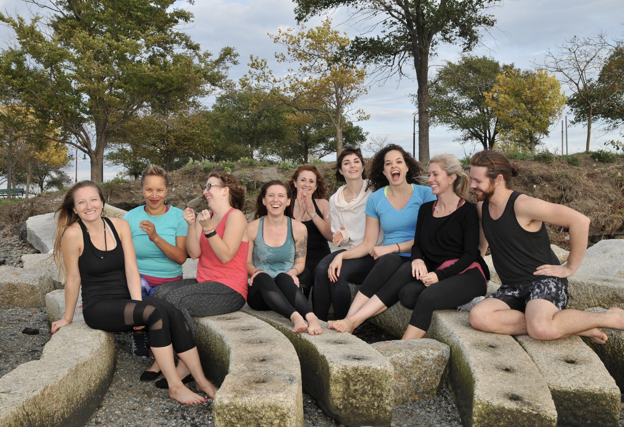 Our graduating class after our beautiful photo shoot at Castle Island in Boston