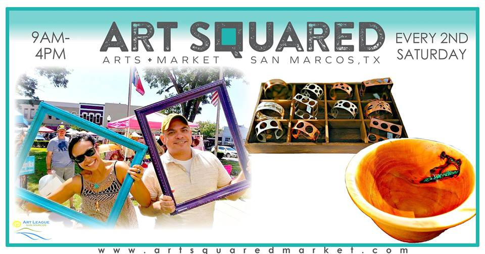 Art Squared Arts Market - Happening Saturday, June 8th. Features this month include live music by Full Moon Medicine, featured artist Micro Terra S.A., featured non-profit organization Calaboose African American History Museum, and free arts and crafts for the young (and young at heart!).Also happening downtown will be the weekly Farmer's Market from 9am-1pm, San Mercado at the Price Center, and the new Second Saturday Downtown Walkabout from 4-7pm featuring Scoops on the Square!There are so many reasons to come downtown and stay awhile!