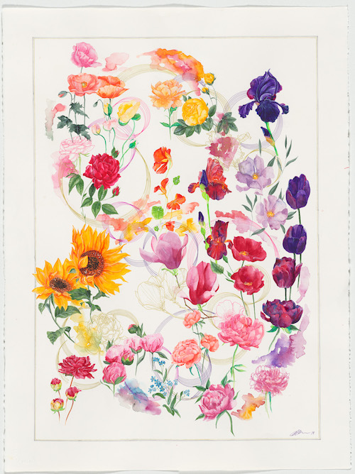 Christina Graham Artist Illustrator Botanical Floral Gold