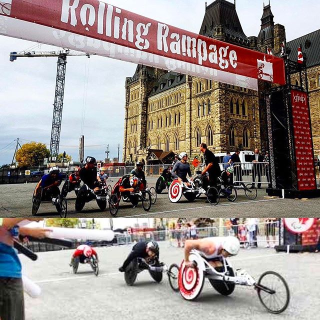 Proudly branded up with TG Group logos post-Rio for my last race of 2016- Rolling Rampage 10km on Parliament Hill. I led from the front nearly the entire race, and was forced to the curb and crashed in the final sprint. I got back in my chair as quick as possible and still managed to finish second. The race summed up 2016 pretty well.. lots of hard work and challenges but not quite the results I hoped for. But with dedicated preparation there can't be regrets. Staying proud, learning, letting go and moving forward is the only way.  #parliament #ottawa #canada #racing #paralympian #athlete #trackandfield #running #olympic #crash #proud #learning #lettinggo #movingforward #wheelchair #parliamenthill #active #health #lifestyle #winning #dedication