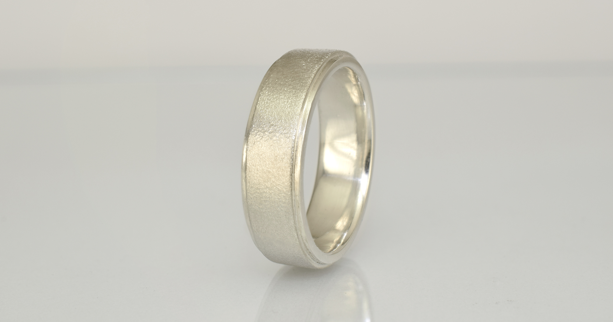 1 - Groom`s palladium sterling silver wedding ring delivery.