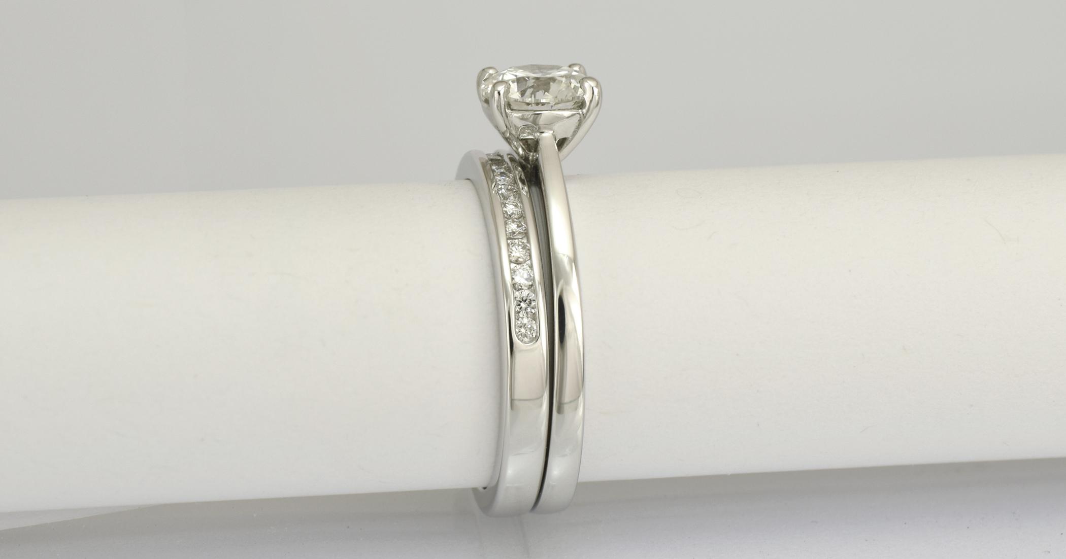 1 - bride`s diamond set wedding ring delivery