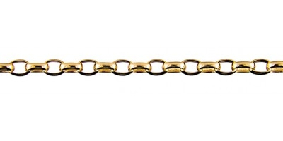 Chain width = 3.3mm  Approx. weight 9ct yellow gold for 50cm = 9.17g  Available in the following:  9ct pink : 45, 50, 55, 60, 70cm 9ct white : 50, 55, 60cm 9ct yellow : 40, 45, 50, 55, 60, 70, 80cm