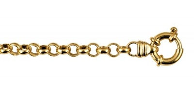 Chain width = 6.9mm  Approx. weight 9ct yellow gold for 45cm = 39g  Available in the following:  9ct yellow : 45cm