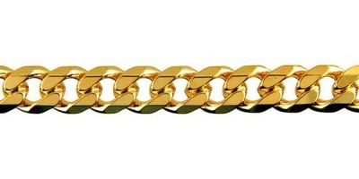 Chain width = 6.9mm  Approx. weight 9ct yellow gold for 50cm = 52.7g  Available in the following:  9ct yellow : 45, 50, 55, 60, 70cm