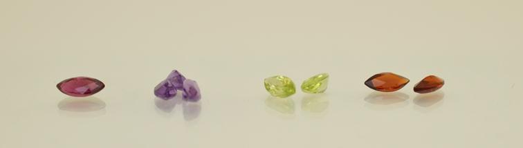 Natural Ruby, Amethyst, Peridot and Garnet