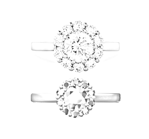 The design scaled to the diamonds to be used at the bottom.