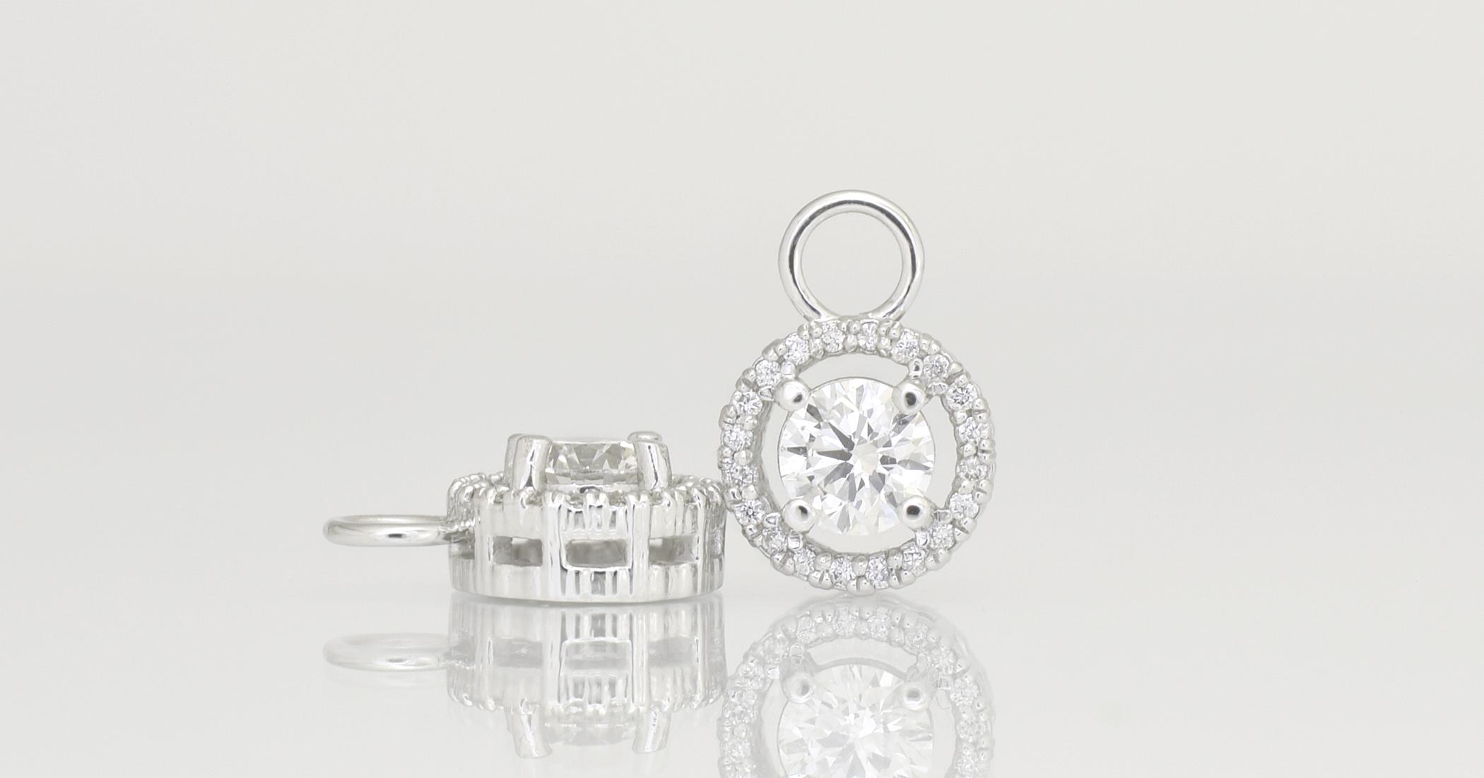 $1315 Diamond Drop only -9ct white gold