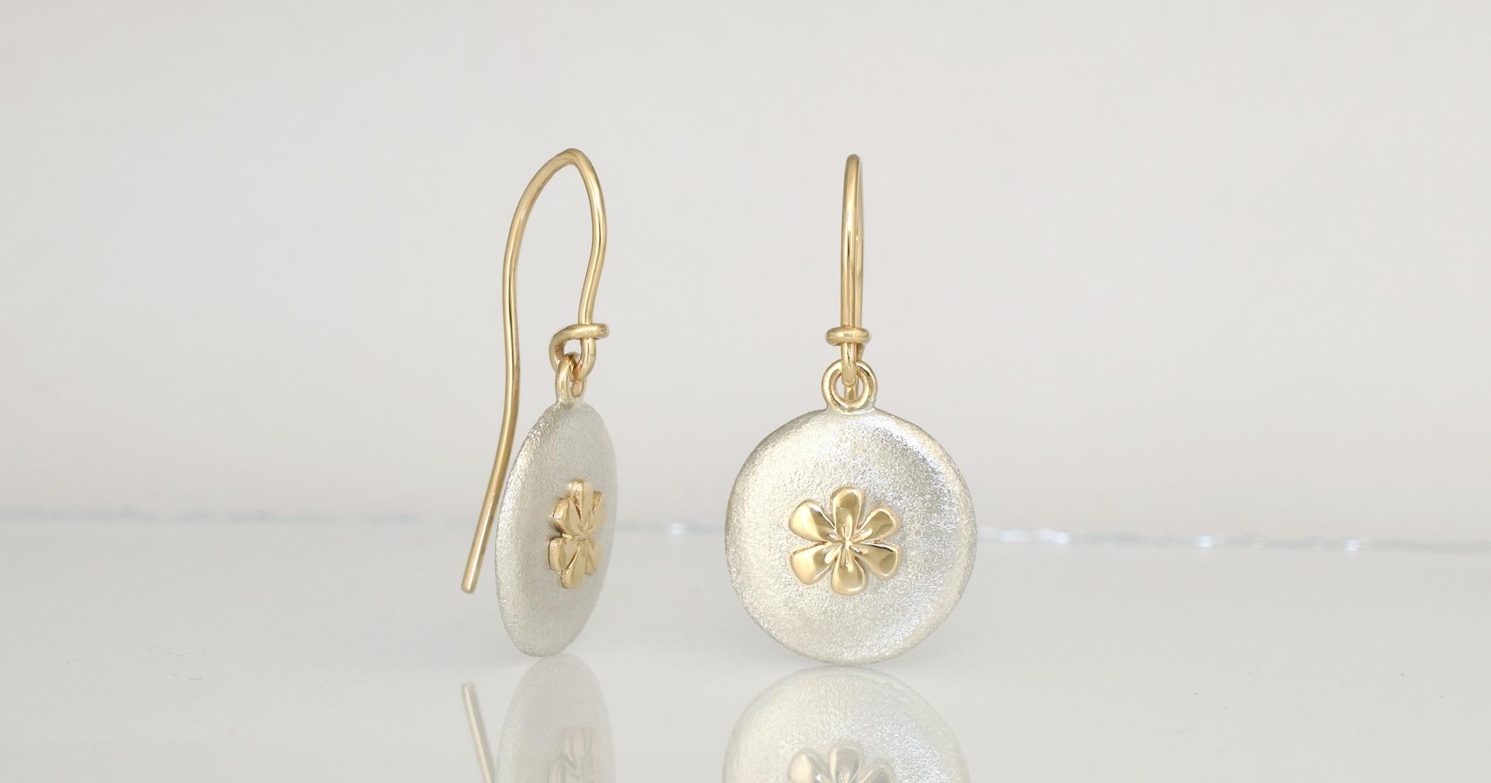 9ct yellow gold & Palladium Sterling Silver