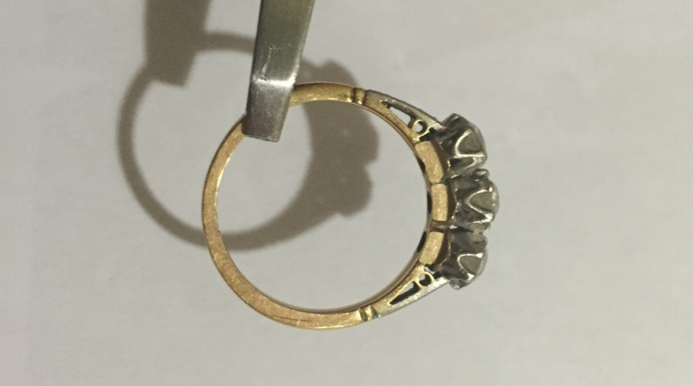 Wear to this ring from having a ring next to it for years.
