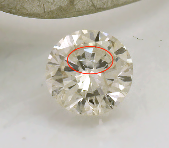 Flaw of this diamond in the table