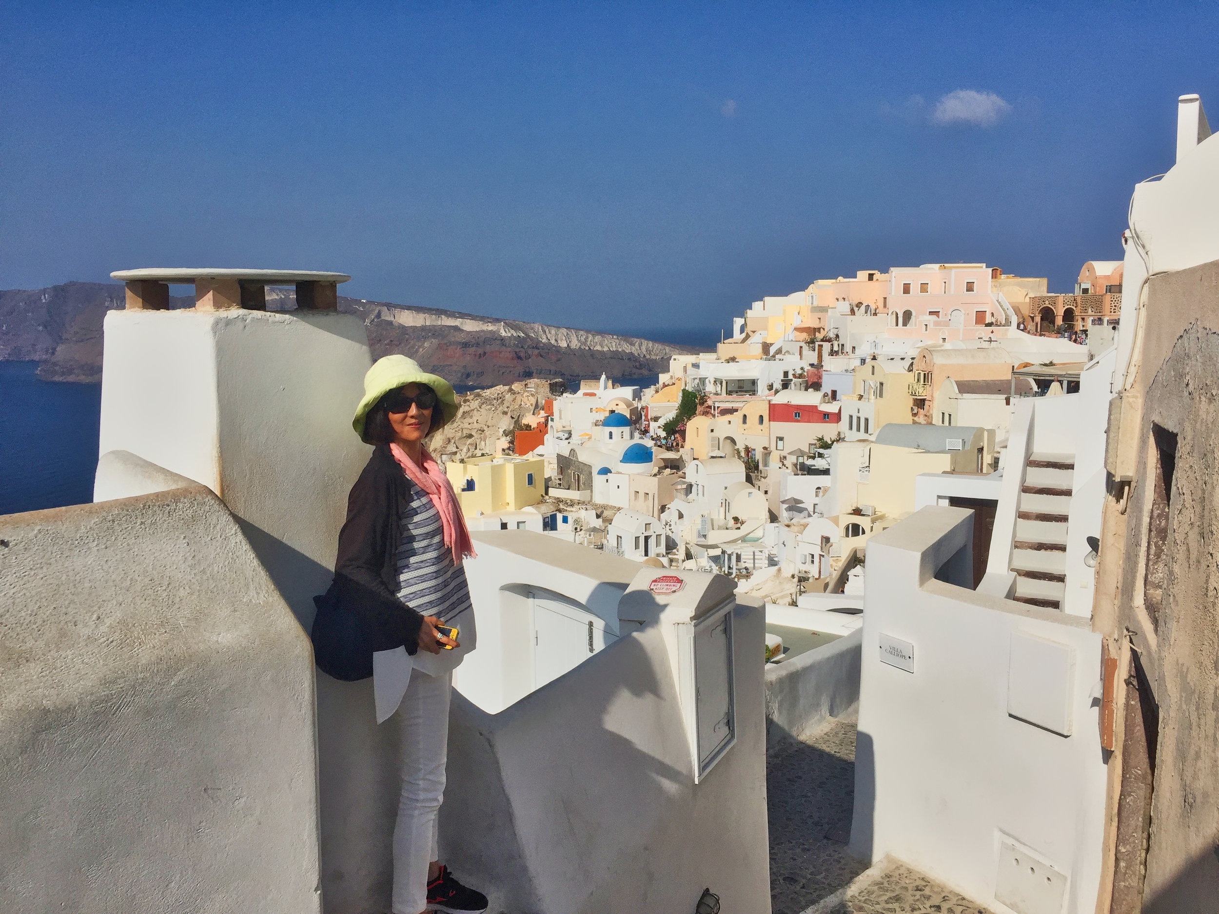 A look down into Oia as we walked in.