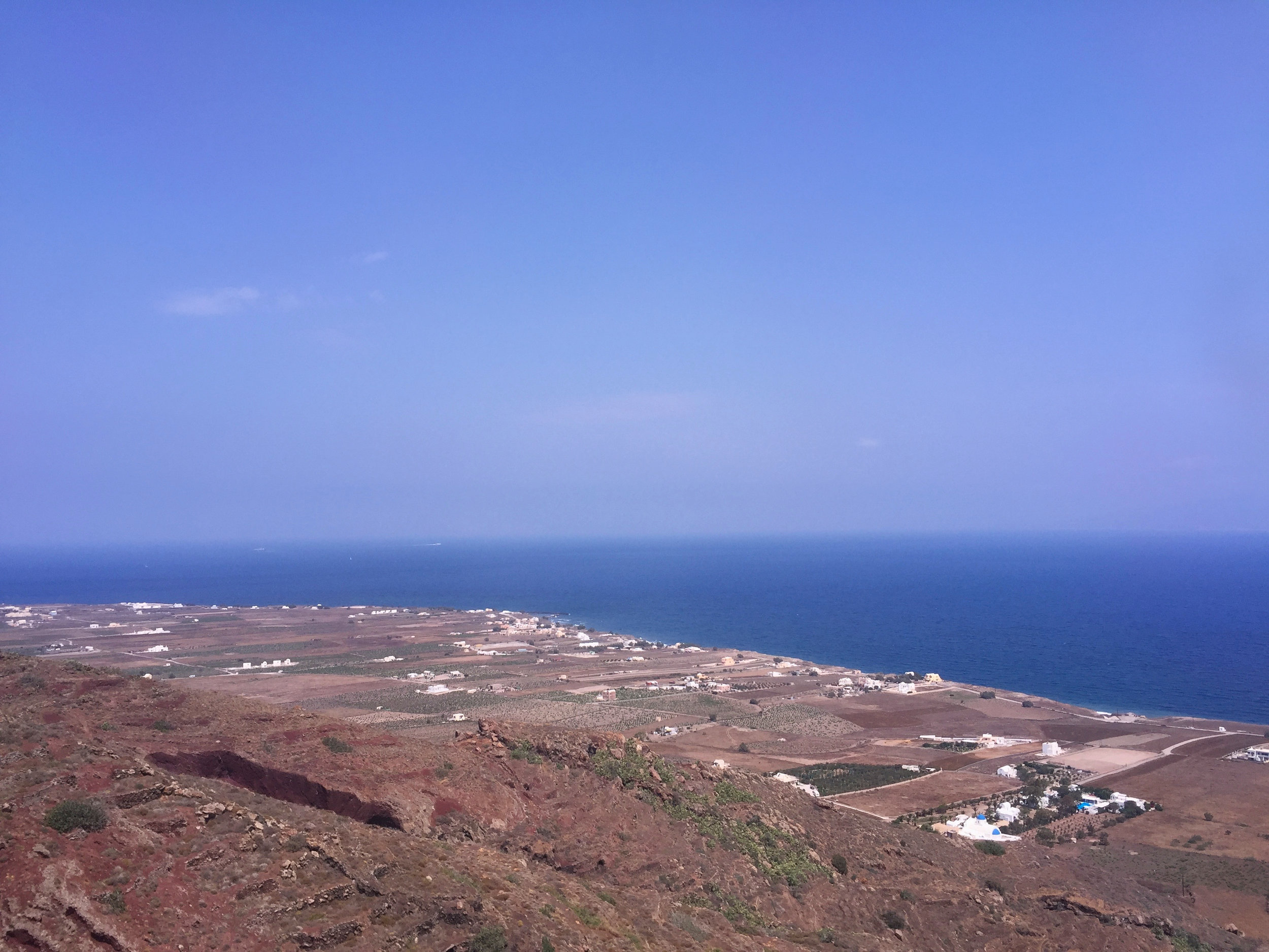 The bus trip from Oia to Fira showed us the back of the island that is used for farming.