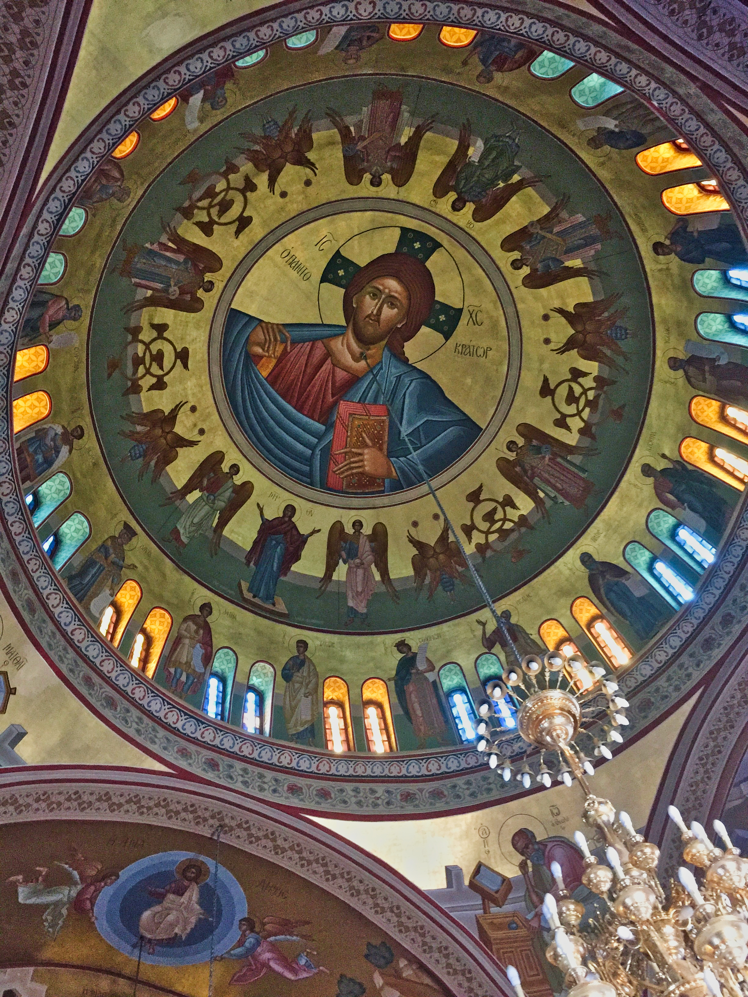 The roof of the Greek Church at Fira.