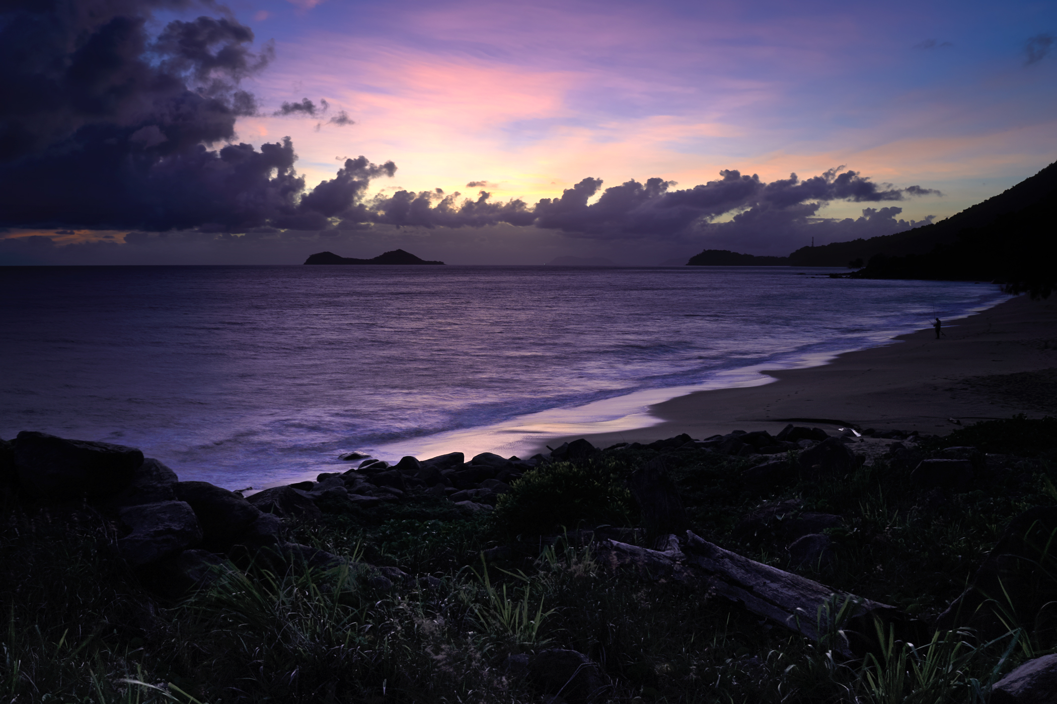 Sunrise over Wangal Djungay north of Ellis Beach. This colour lasted just a few minutes.