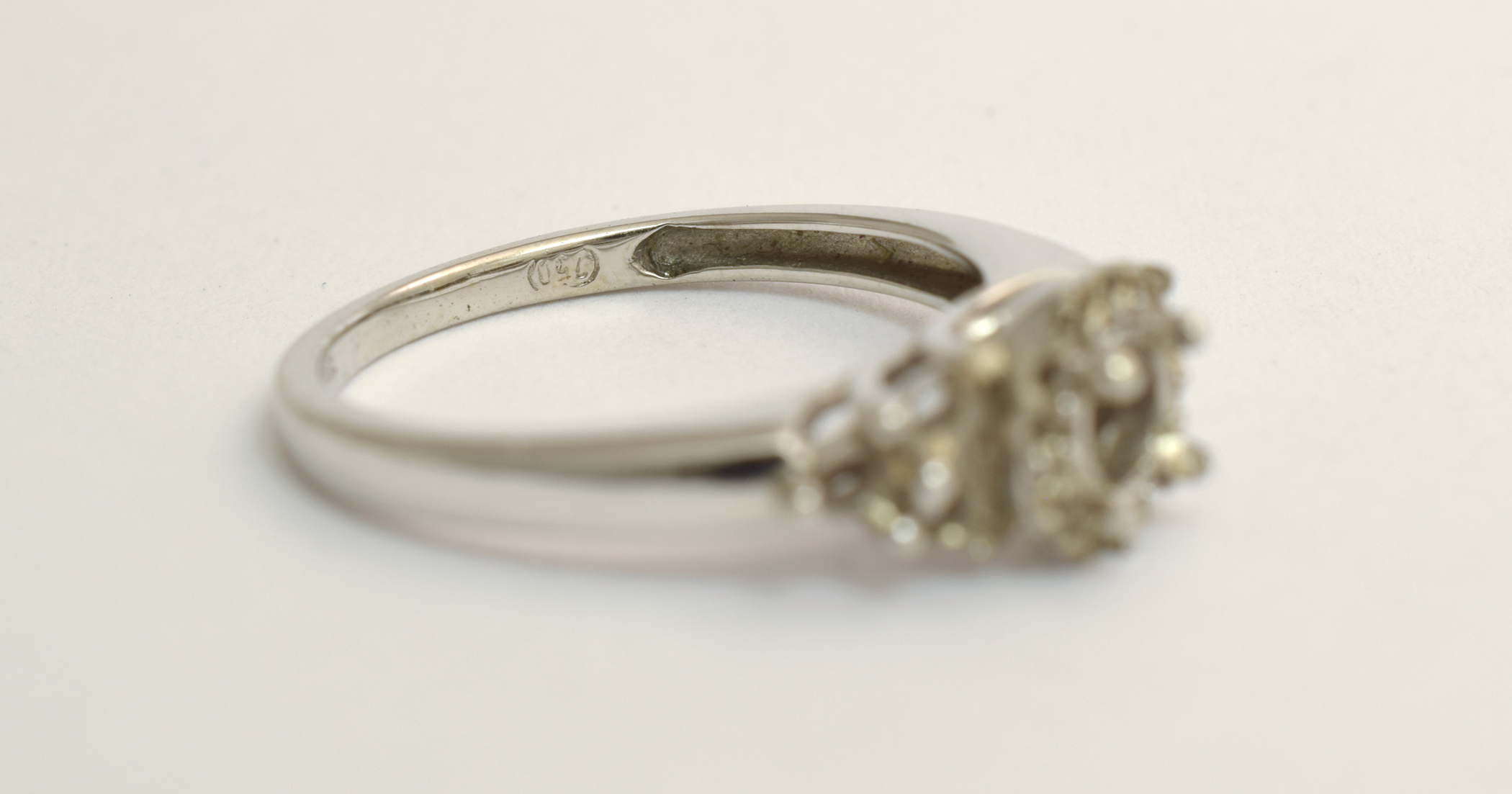 A jewellery chain destroyed this ring when they resized it beyond it limits to close a sale. I had to totally remake it.