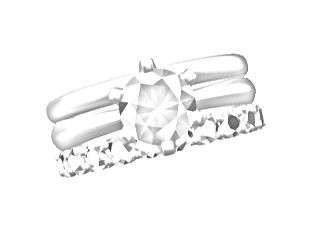 The diamond size chosen for the eternity ring.