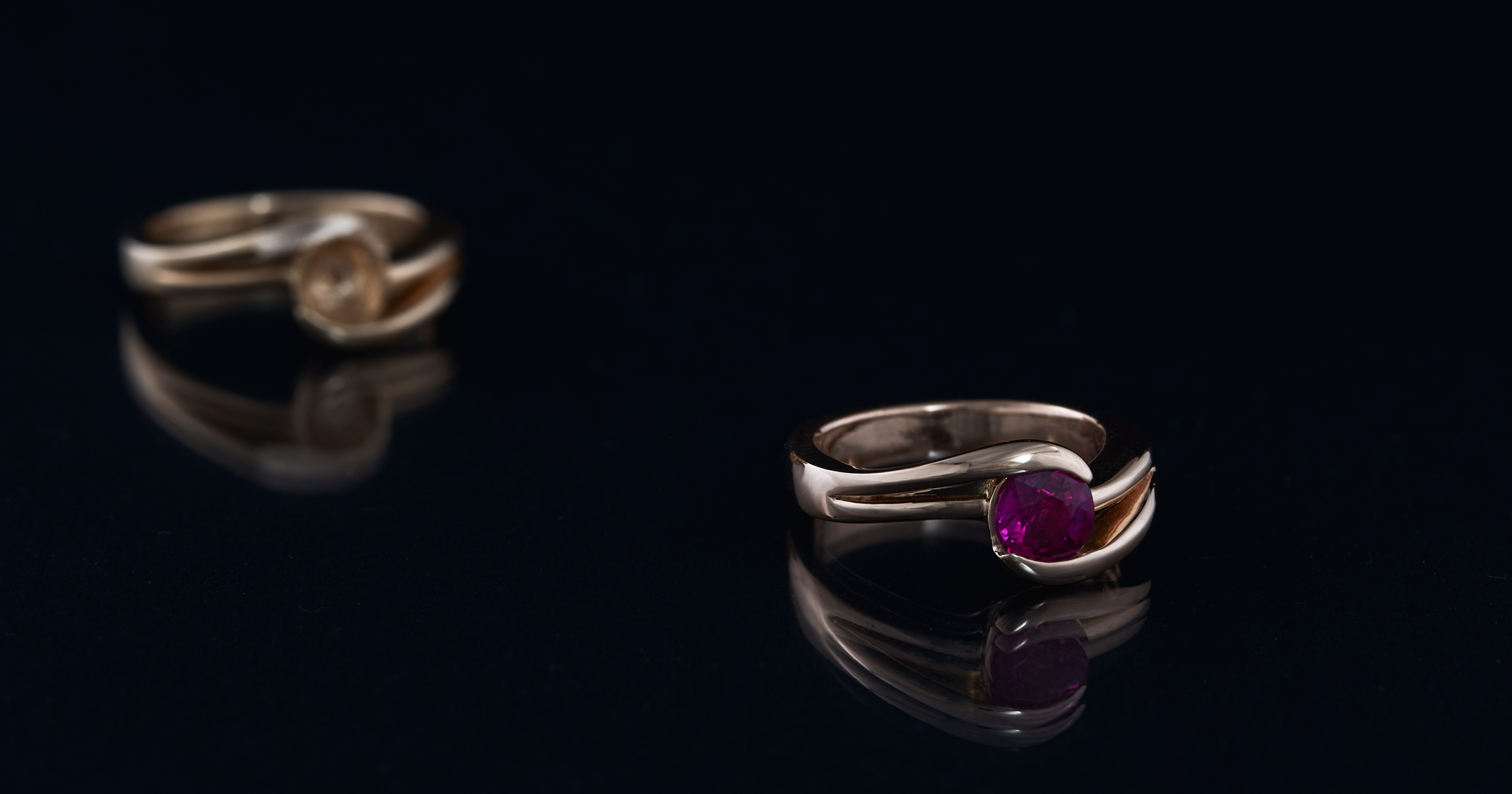 The ring remade with some very slight changes to the correct finger size.