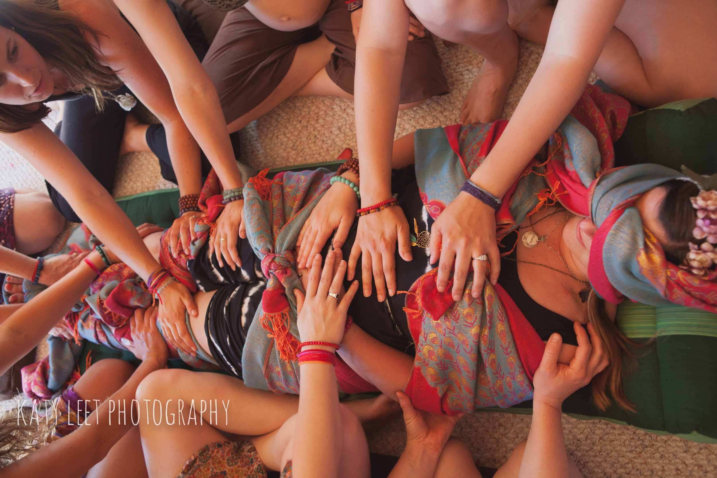 Photo courtesy of Sacred Living Movement sharefile, available to those of us certified in these beautiful works. Each rebozo tied has a blessing to give strength and wisdom to the mother. I do offer these services.