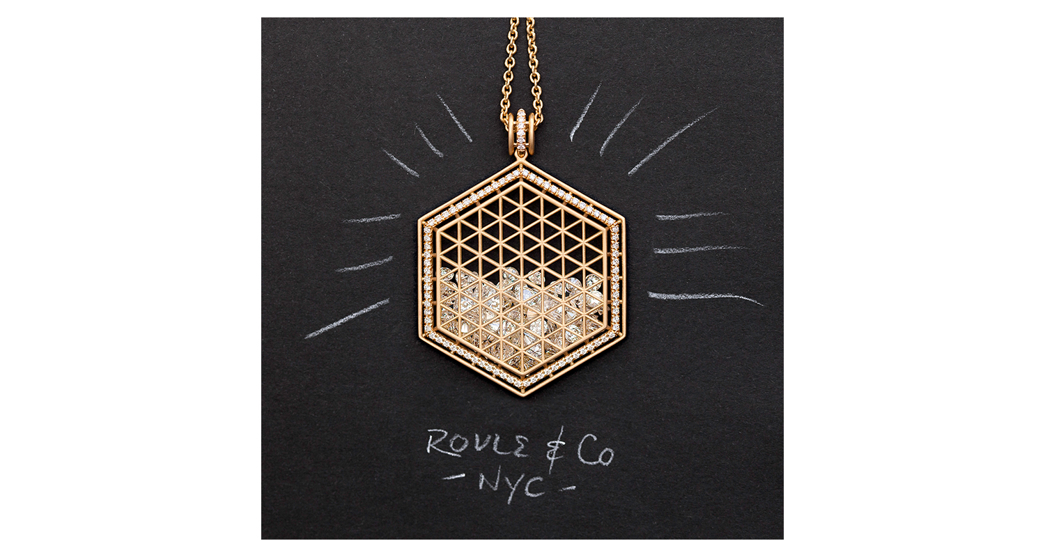 Beveled Hexagon Pendant