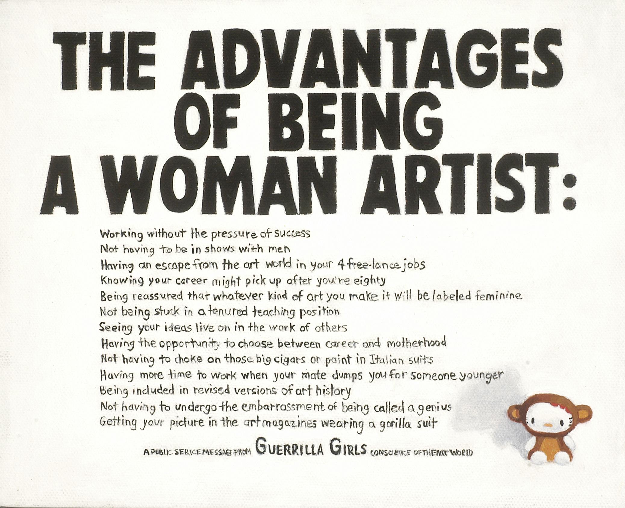 Hello Guerilla Girls (advantages)