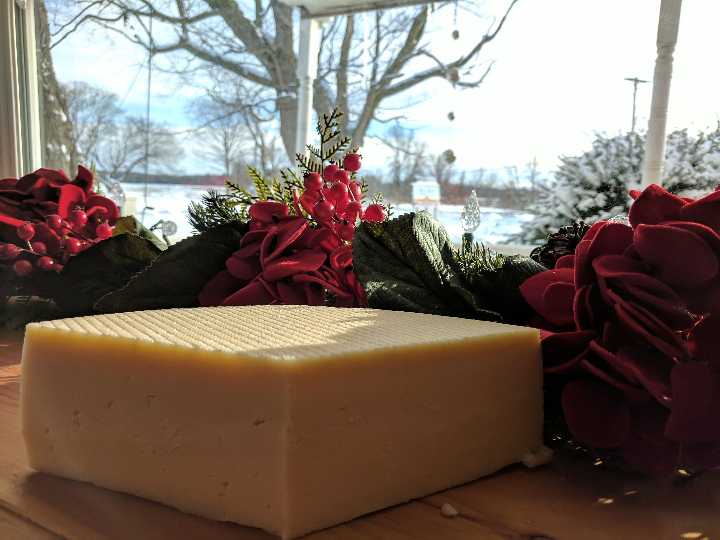 Mount Titus - Our version of a Gruyere; it is produced as a raw milk cheese that is aged at least 60 days. It is mild and nutty, and you get a hint of old world Swiss flavor.Mt. Titus received an Award of Excellence at the 2012 New York State Fair.