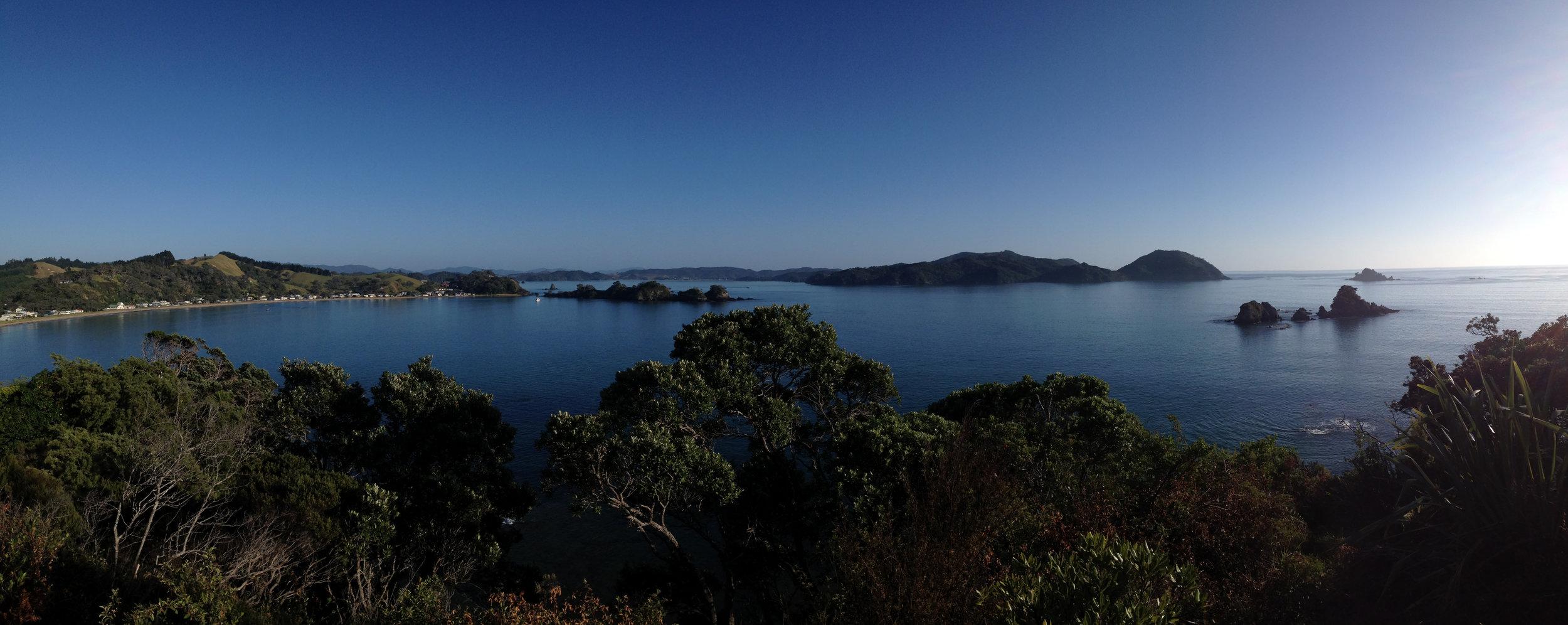 View from southern Oakura Bay towards Whangaruru
