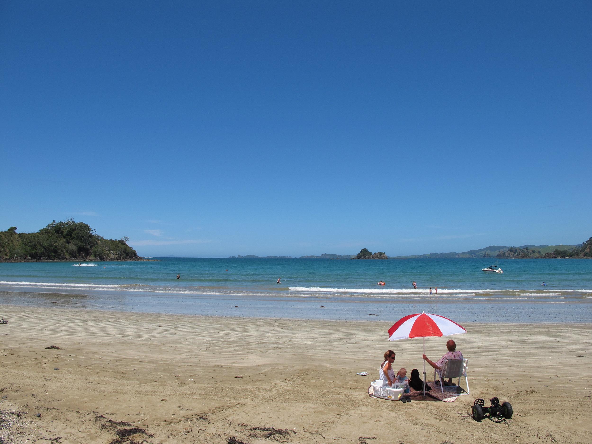Oakura Bay is paradise