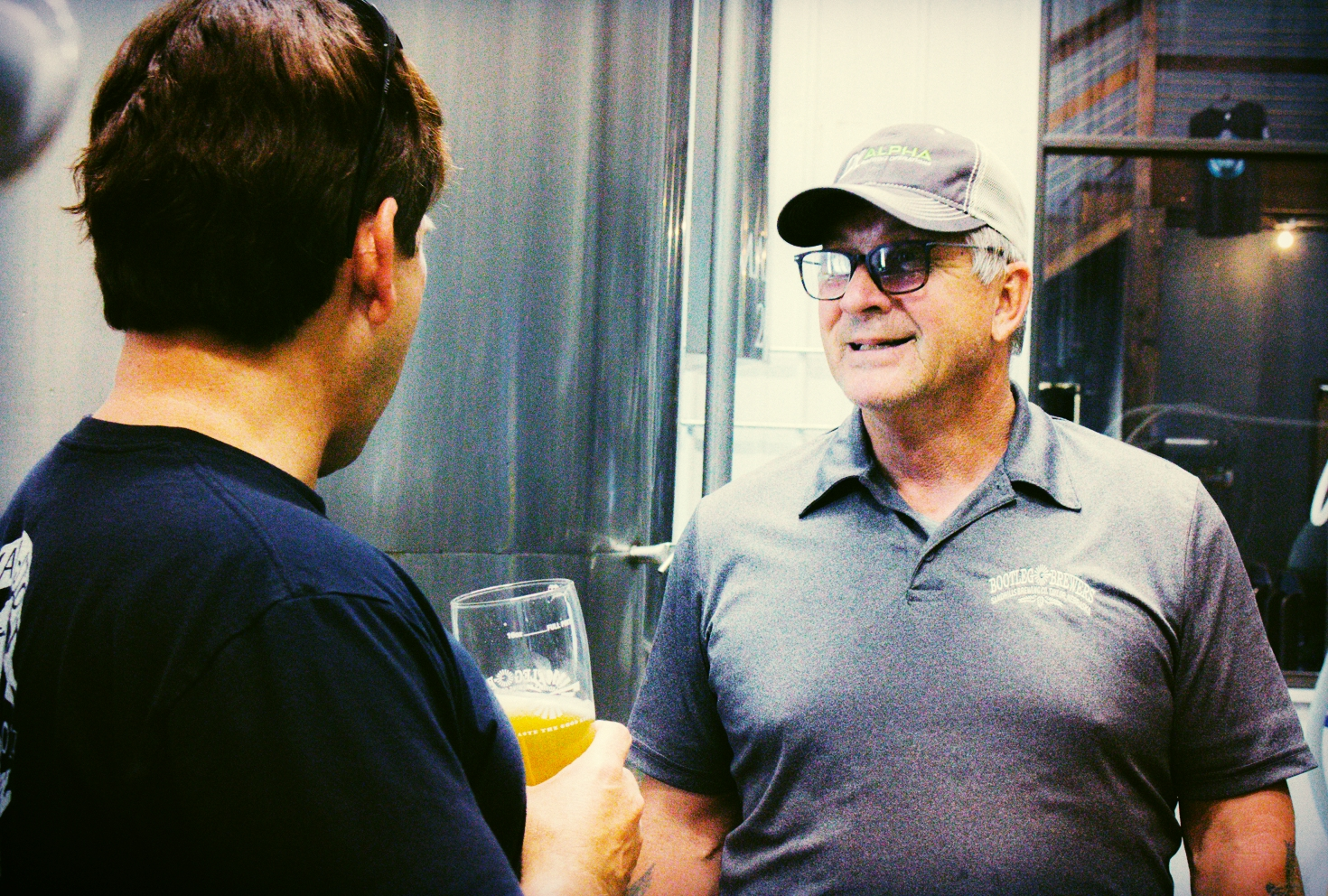 Getting a tour of the brewery from Ron was incredible