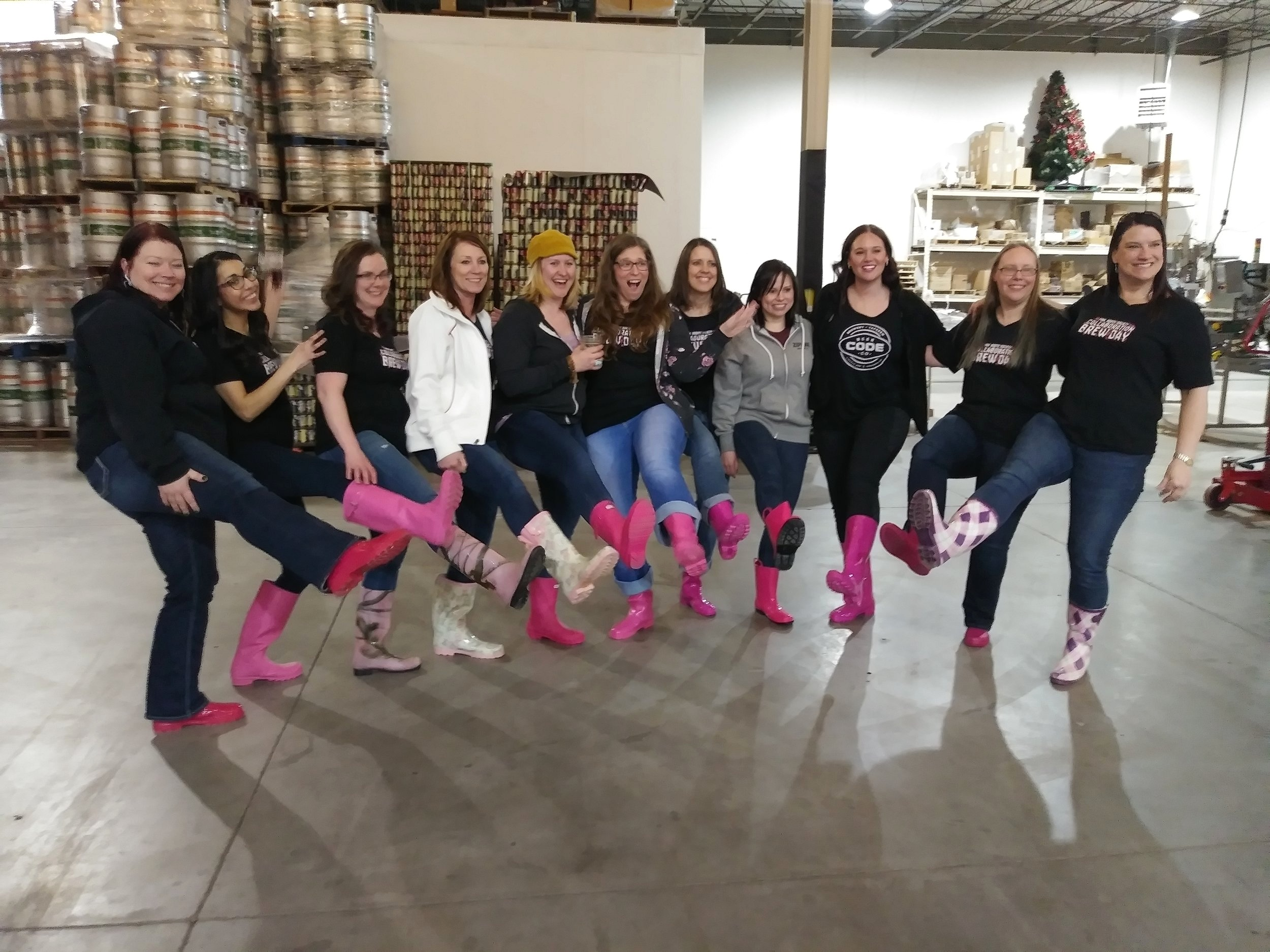 Wrapping up the First Nebraska Pink Boots Society Brew Day