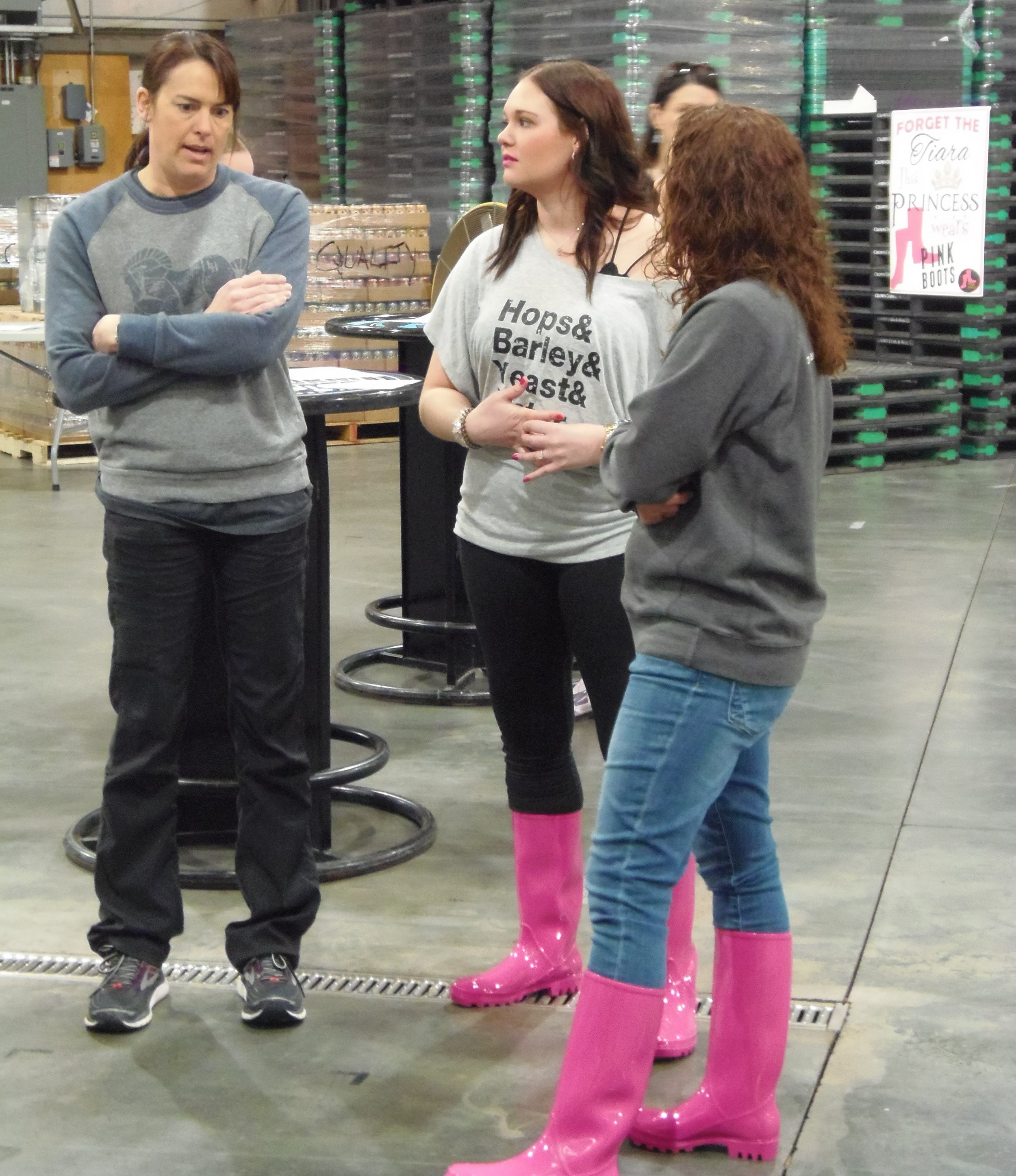 Julie - Lazy Horse Brewing & Winery, Michelle - Code Beer Company, Amy - Pals Brewing Company