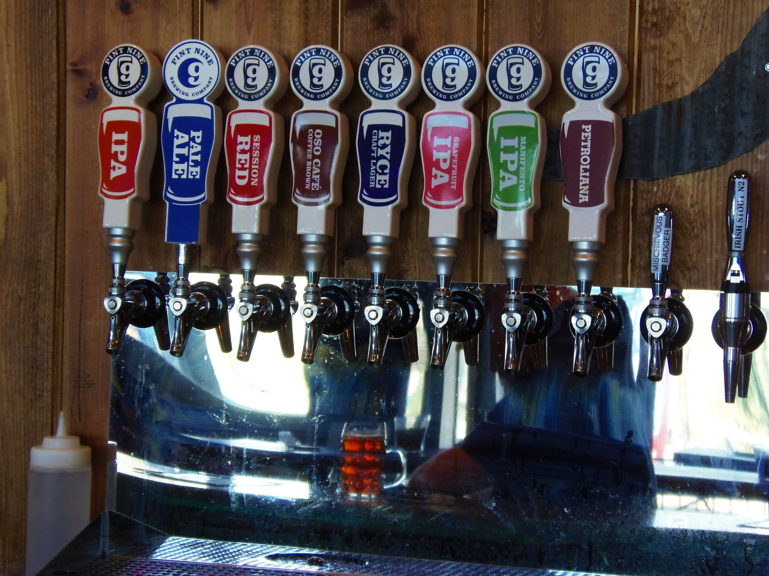 Tap handles continue to grow along with the variety of beer over the 2 years
