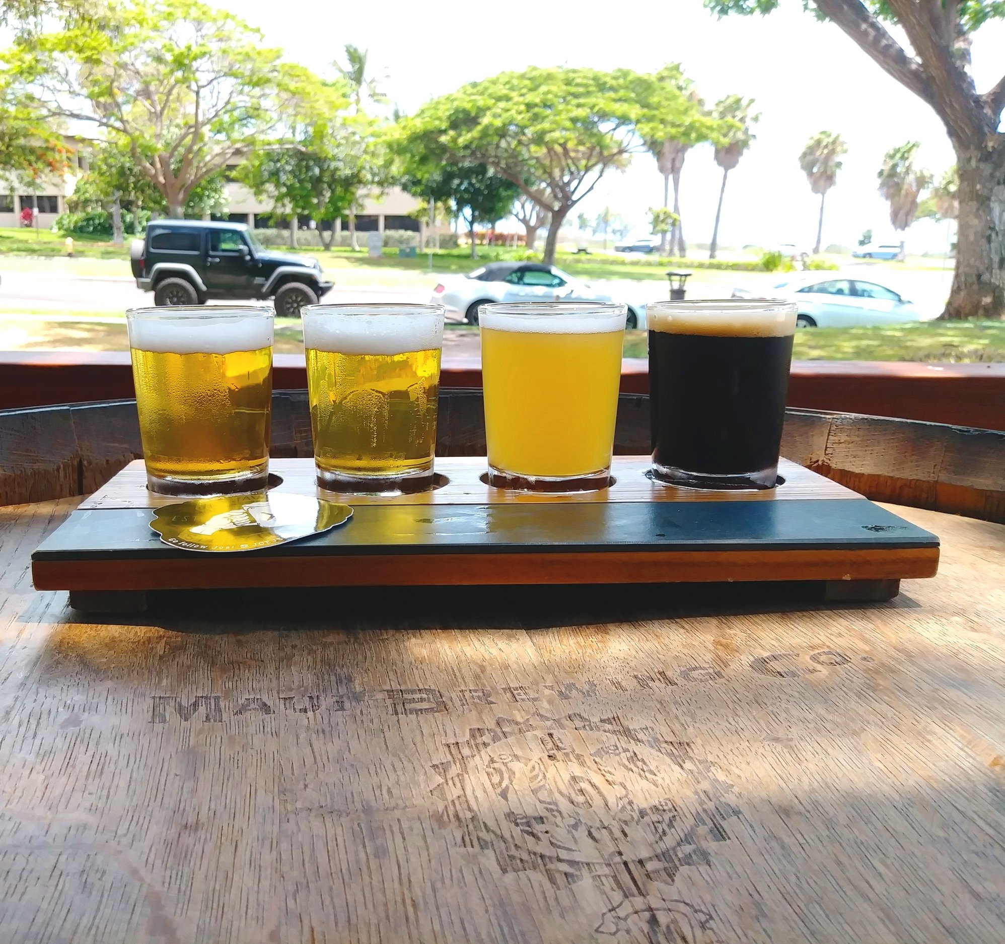 Always like having a flight when getting to go to a new brewery