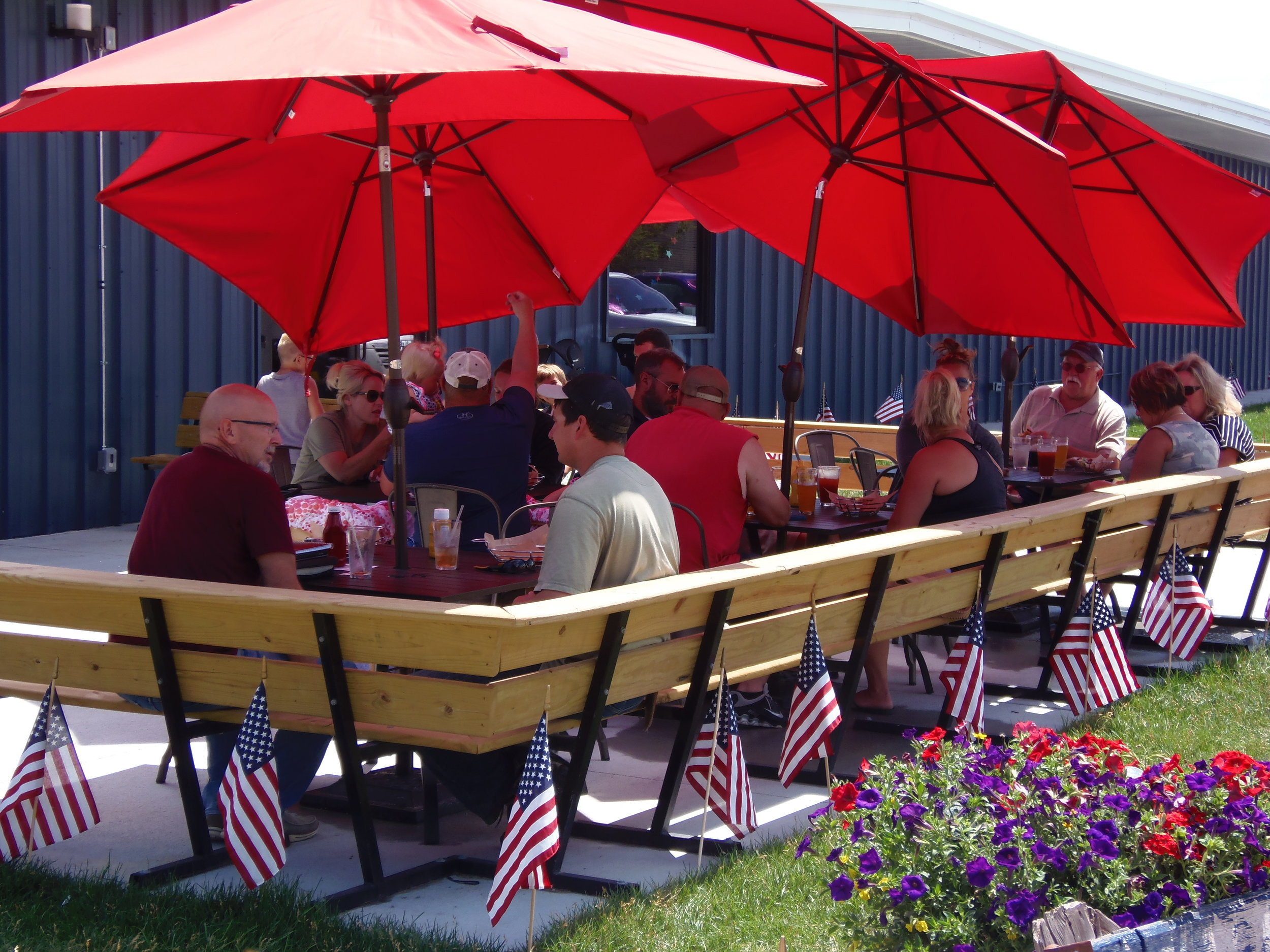 Patio outside of Canyon Lakes Brewing Company