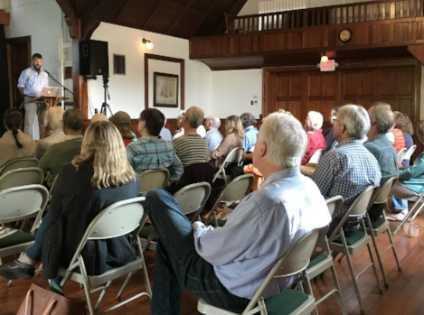 Brian Donohue expounds on the New England Food Vision, Sheffield MA
